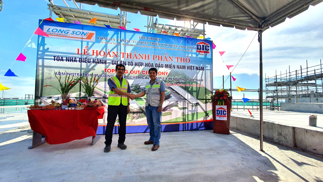 TOPPING OUT CEREMONY ADMINISTRATION BUILDING PETROCHEMICAL COMPLEX IN SOUTH OF VIETNAM PROJECT