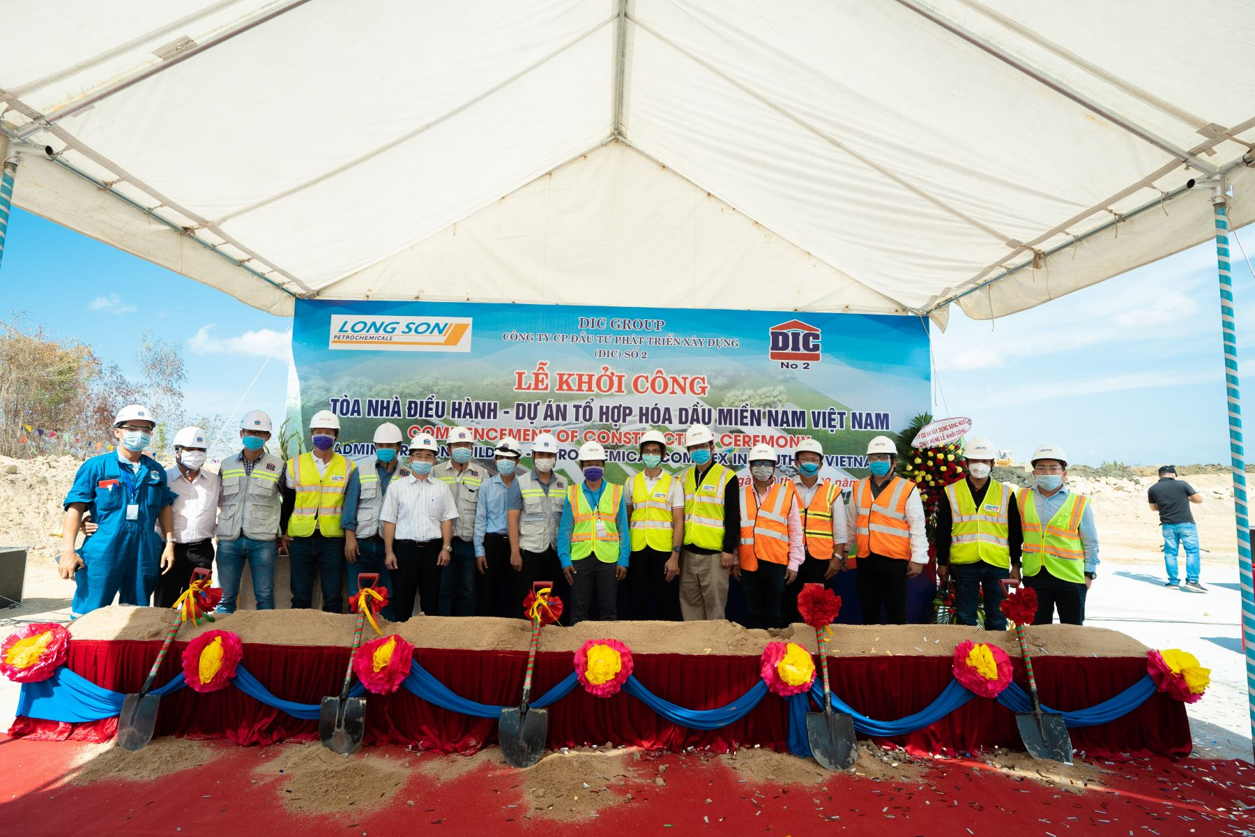 COMMENCEMENT OF CONSTRUCTION CEREMONY OF ADMINISTRATION BUILDING ('PACKAGE H&I-4') OF PETROCHEMICAL COMPLEX IN SOUTH OF VIETNAM